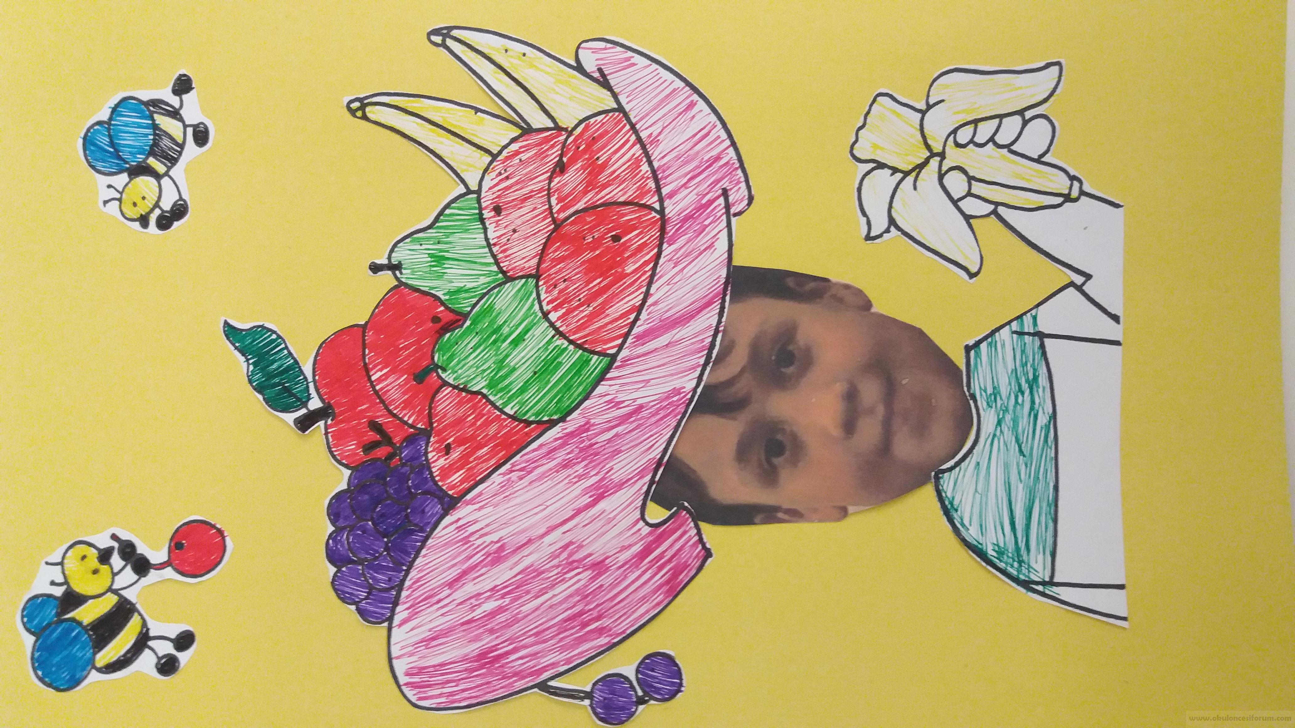 Meyve Tabağı şapkam Okul öncesi Etkinlikleri