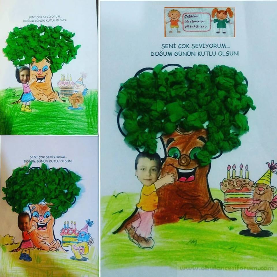 Ağacın Doğum Günü Partisi Okul öncesi Etkinlikleri