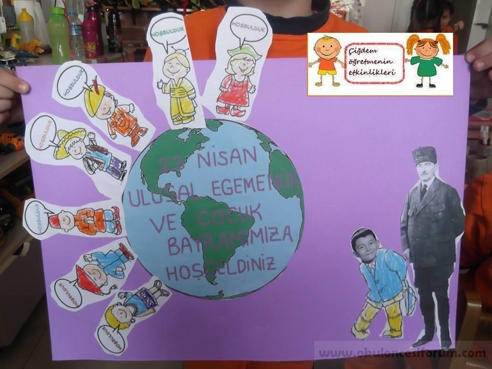 Ataturk Le Bayramimiza Gelen Cocuklari Karsiliyoruz Okul