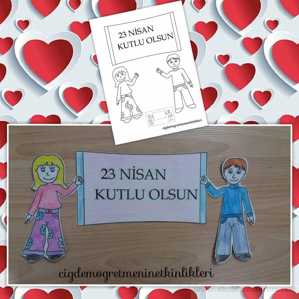 23 Nisan Boyama Sayfalari Okul Oncesi Etkinlikleri