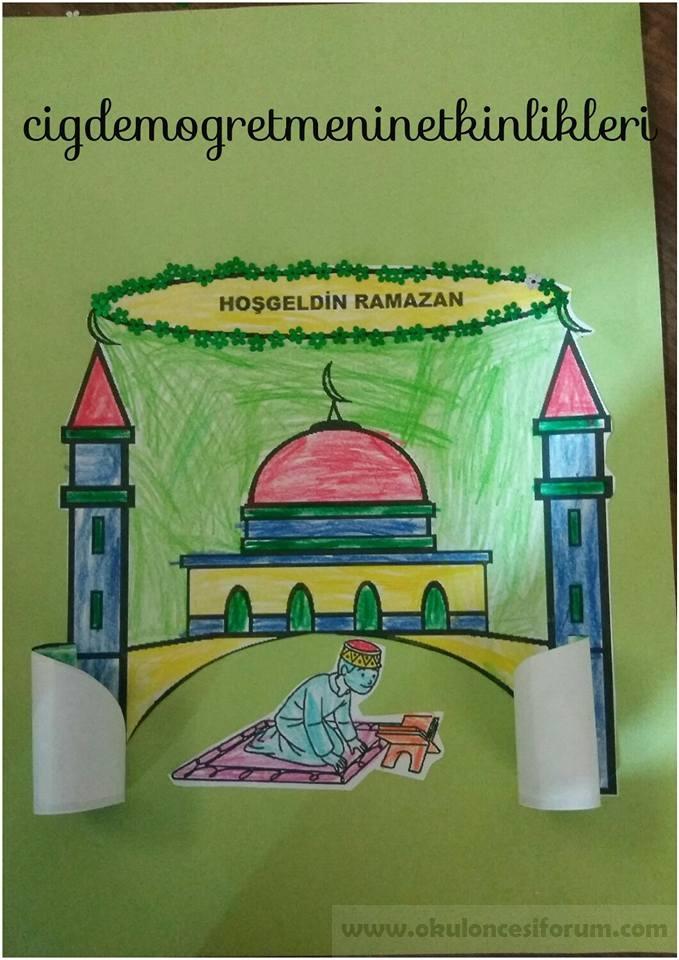 Hosgeldin Ramazan Okul Oncesi Etkinlikleri