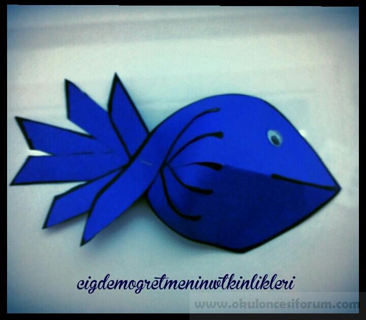üç Boyutlu Balık Yapalım Okul öncesi Etkinlikleri