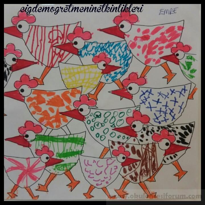 Desen Desen Tavuklar Okul Oncesi Etkinlikleri