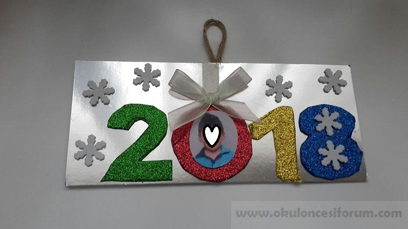2018 Yeni Yıl Kartı Okul öncesi Etkinlikleri