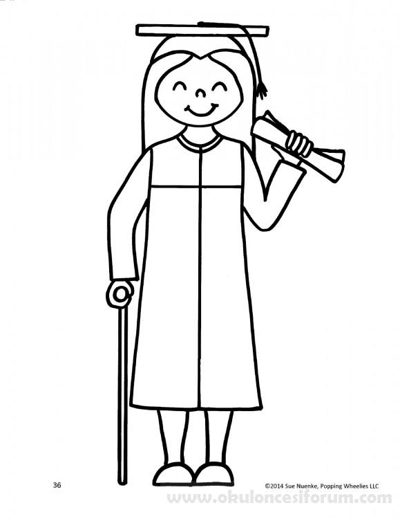 Engelli çocuk Boyama Sayfaları Okul öncesi Etkinlikleri