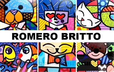 Romero Britto Sanatsal Boyama Sayfaları Okul öncesi