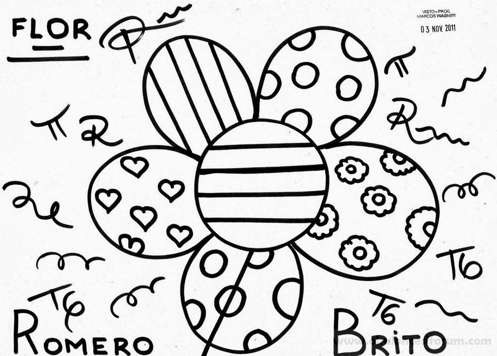 Romero Britto Sanatsal Boyama Sayfalari Okul Oncesi Etkinlikleri