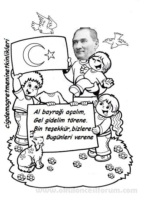 Atatürkle 23 Nisan Törenindeyiz Okul öncesi Etkinlikleri