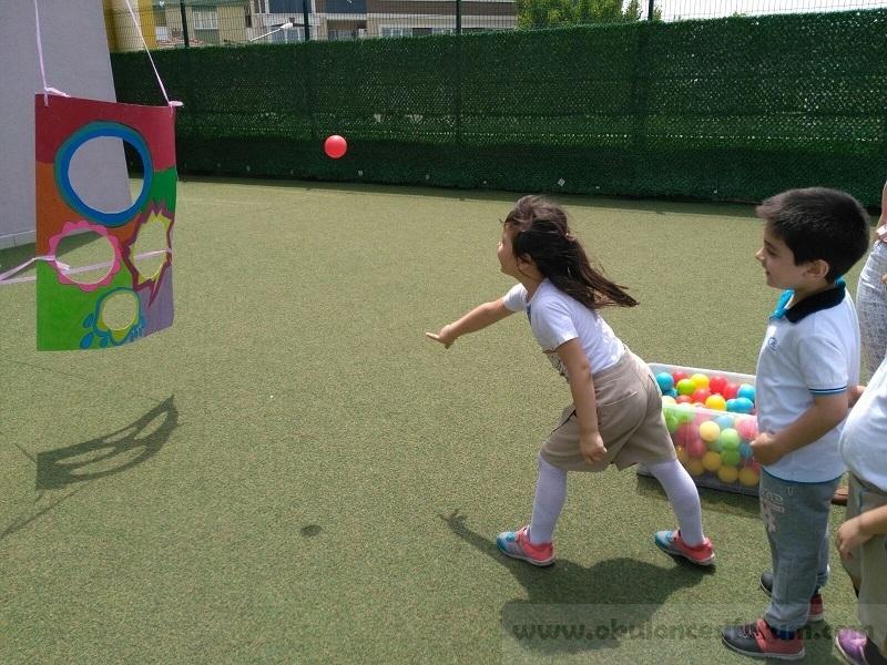 Hedefe Top Atma Bahce Oyunu Okul Oncesi Etkinlikleri
