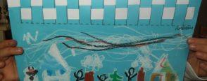 Mozaik çalışması kar tanelerimiz :)