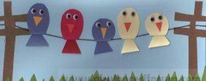 Teldeki sevimli kuşlar