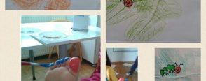 Ayak parmaklarımızın baskısından tırtıl :)