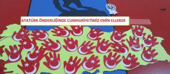 """Cumhuriyet Bayramı etkinliği """"Atatürk önderliğinde cumhuriyetimiz emin ellerde"""""""