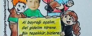 Atatürk'le 23 Nisan törenindeyiz.