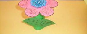 çiçek yapımı, rulolarla