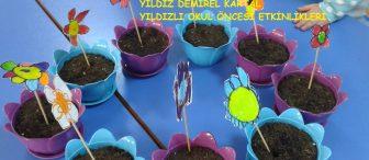 Okul öncesi eğitim kurumlarında Aile katılımı etkinlikleri ile çiçek dikimi