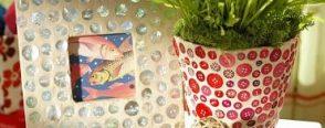 Düğmelerle dekoratif ürünler