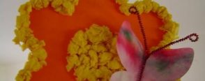 Çiçeğe Kelebek Konmuş (kalıplı)