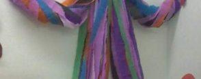 Grapon kağıtlarından rengarenk palyaçomuz :)