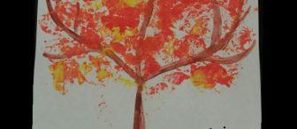 Folyo baskısından güz ağacı