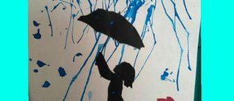 """Üfleme çalışması """"yağmur"""""""
