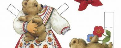 Kağıt bebekler ülkelere göre giyiniyor :)