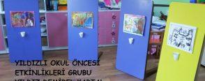 Değerler eğitimi İşbirliği yapma, küçük ressamlarımın resim sergisi