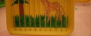 Okul öncesi eğitimde artık materyal çalışmasıyla kafesteki zürafa etkinliği