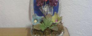 Çiçek sandığı (pet şişelerden)