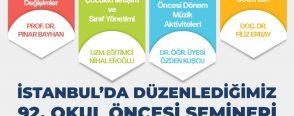 İstanbul Okul Öncesi Semineri 6 Nisan 2019