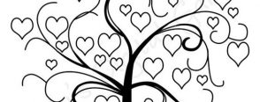 Ağaç silüeti ve sevgi ağaçı örnekleri