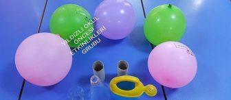 Balonlu eğitici -dikkat oyun etkinliği