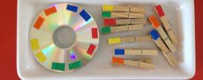 """Cd de renk sıralama """"montessori etkinlikleri"""""""