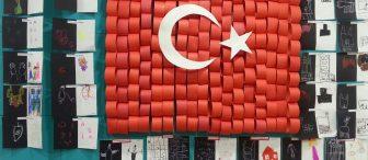 Cumhuriyet bayramı pano ve süslemeleri
