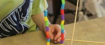 """Desenli kuleler """"Montessori etkinliği"""""""