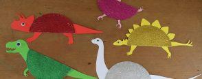 Işıltılı kağıt tabak dinozorlar :)