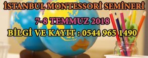 İstanbul Montessori Seminerini Kaçırmayın