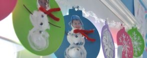 """Yeni yıl süslerimiz  """"Kar tanesi ve Kardan adamlı"""""""