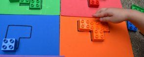 """Renkli legolardan bulmacalar  """"renk kavramı"""""""