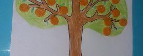 Mandalina kabuklarından mandalina ağacı yaptık..