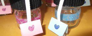 Karne hediyesi minik şeker kavanozlarımız :)