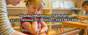 Montessori Seminerleri Devam Ediyor