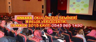 Ankara Okul Öncesi Semineri