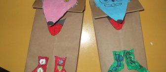 """""""Çoraplı Tilki"""" Kese kağıdı kuklalarımız"""