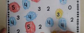 0-5 arası rakamları tanıma pratikleri