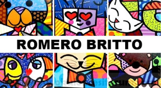 Romero Britto sanatsal boyama sayfaları