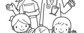 Sağlık haftası boyama sayfaları