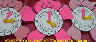 Okul öncesi eğitimde saat rakam ilişkisi ile saat öğretimi oyuncağı