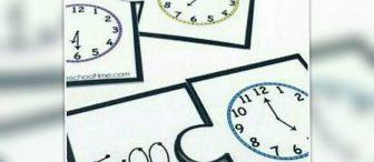 Saati öğrenelim yap- bozları