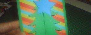Çam Ağaçlı Yeni Yıl Kartı(kalıplı)